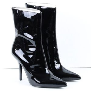 CALVIN KLEIN MADA 2 MID CALF POINTED TOE BOOTS